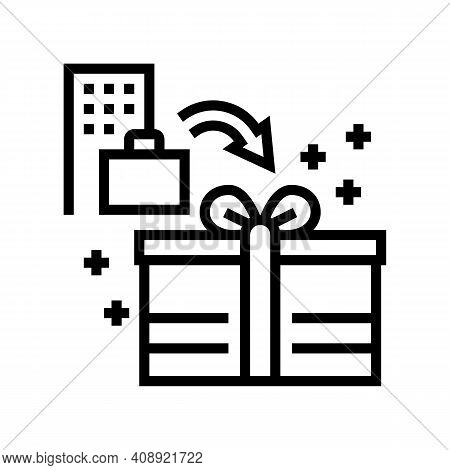 Bonuses And Gifts Benefits Line Icon Vector. Bonuses And Gifts Benefits Sign. Isolated Contour Symbo