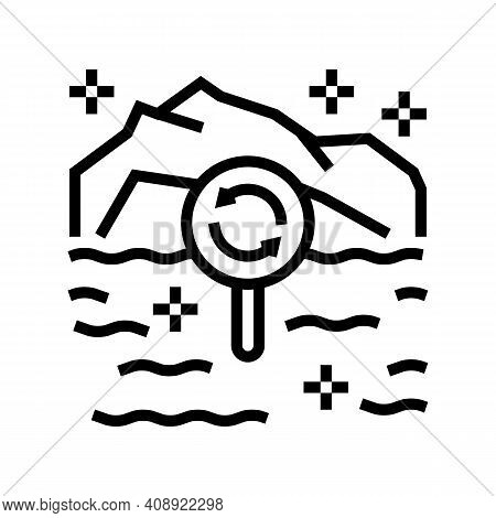 Ecotope System Line Icon Vector. Ecotope System Sign. Isolated Contour Symbol Black Illustration
