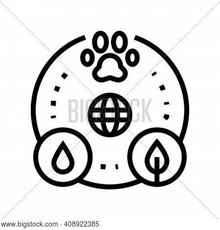 Biocenosis Ecosystem Line Icon Vector. Biocenosis Ecosystem Sign. Isolated Contour Symbol Black Illu