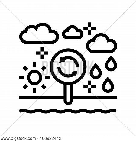 Climatope System Line Icon Vector. Climatope System Sign. Isolated Contour Symbol Black Illustration