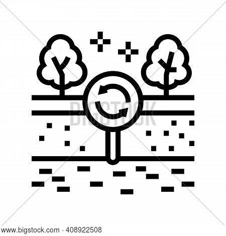 Edaphotop Ecosystem Line Icon Vector. Edaphotop Ecosystem Sign. Isolated Contour Symbol Black Illust