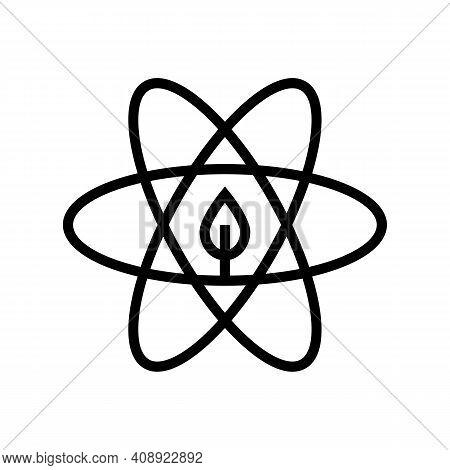 Atom Ecosystem Line Icon Vector. Atom Ecosystem Sign. Isolated Contour Symbol Black Illustration