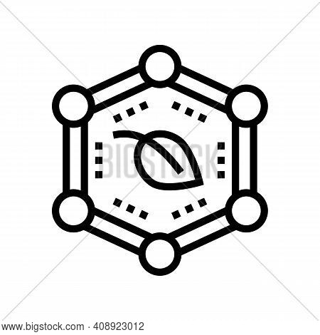 Plants Safe Line Icon Vector. Plants Safe Sign. Isolated Contour Symbol Black Illustration