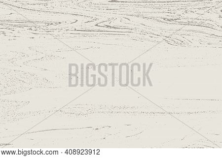 Vector Abstract Ink Drawing, Graphite Strokes On A White Background, The Image Of The Landscape With