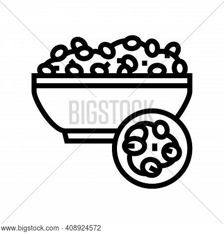 Pearl Barley Groat Line Icon Vector. Pearl Barley Groat Sign. Isolated Contour Symbol Black Illustra