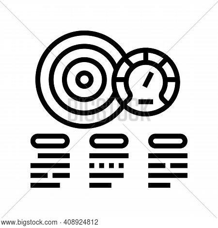 Achievement Task Optimize Line Icon Vector. Achievement Task Optimize Sign. Isolated Contour Symbol