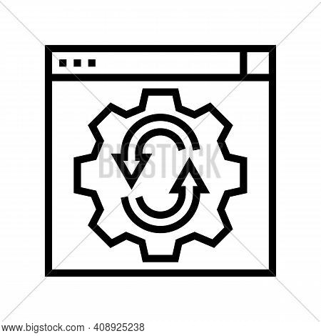 Web Site Optimize Line Icon Vector. Web Site Optimize Sign. Isolated Contour Symbol Black Illustrati