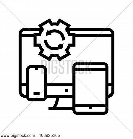Technics Optimize Line Icon Vector. Technics Optimize Sign. Isolated Contour Symbol Black Illustrati