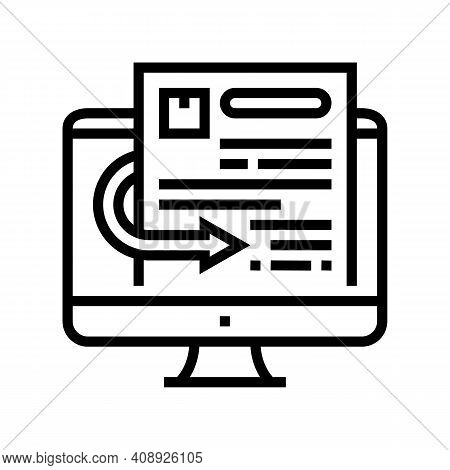 Quotation Requests Line Icon Vector. Quotation Requests Sign. Isolated Contour Symbol Black Illustra