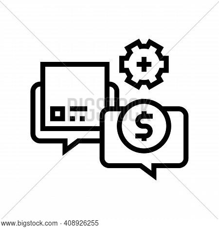 Procurement Process Line Icon Vector. Procurement Process Sign. Isolated Contour Symbol Black Illust
