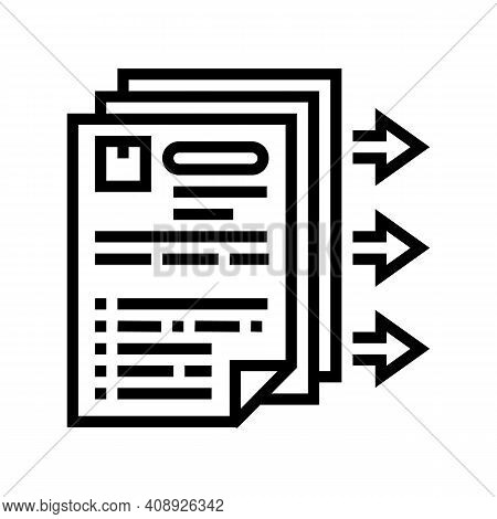 Purchase Requisition Line Icon Vector. Purchase Requisition Sign. Isolated Contour Symbol Black Illu