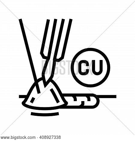 Copper Welding Line Icon Vector. Copper Welding Sign. Isolated Contour Symbol Black Illustration