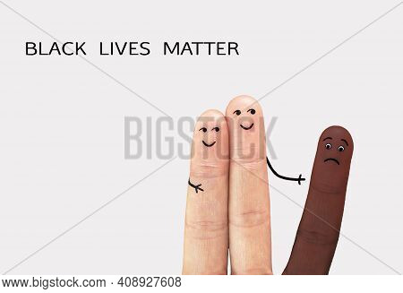 Motivational Poster Against Racism And Discrimination. Black Lives Matter. Anti Discrimination, Help