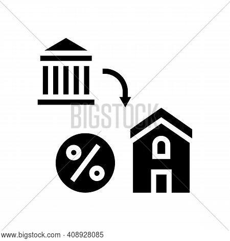Housing Benefits Glyph Icon Vector. Housing Benefits Sign. Isolated Contour Symbol Black Illustratio