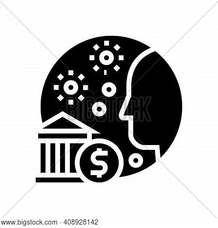 Into Epidemic Benefits Glyph Icon Vector. Into Epidemic Benefits Sign. Isolated Contour Symbol Black