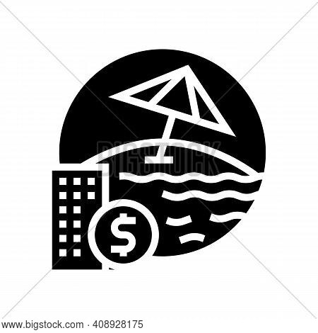 Payment For Vacation Voucher Glyph Icon Vector. Payment For Vacation Voucher Sign. Isolated Contour
