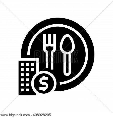Free Lunch Benefits Glyph Icon Vector. Free Lunch Benefits Sign. Isolated Contour Symbol Black Illus
