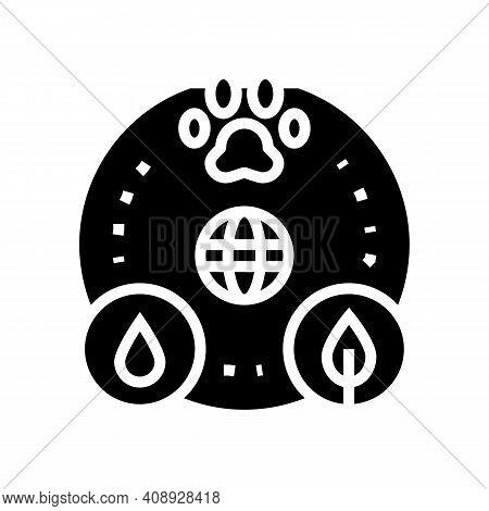 Biocenosis Ecosystem Glyph Icon Vector. Biocenosis Ecosystem Sign. Isolated Contour Symbol Black Ill