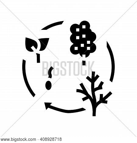 Life Cycle Glyph Icon Vector. Life Cycle Sign. Isolated Contour Symbol Black Illustration