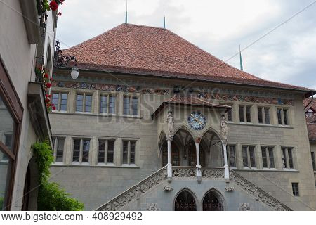 Bern, Switzerland - August 12, 2019 - Church Buildings In The Swiss Capital