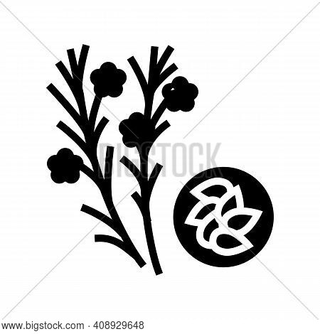 Flax Groat Glyph Icon Vector. Flax Groat Sign. Isolated Contour Symbol Black Illustration