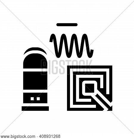 Technology Of Rfid Glyph Icon Vector. Technology Of Rfid Sign. Isolated Contour Symbol Black Illustr