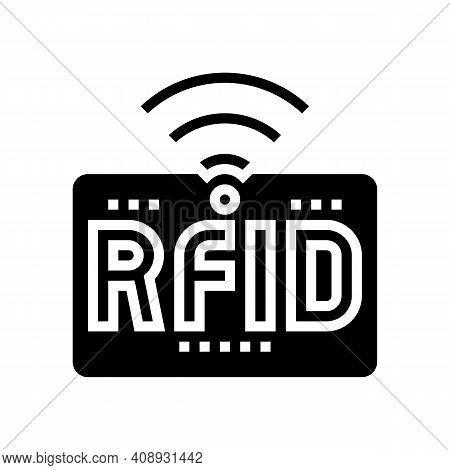 Rfid Wireless Sign Glyph Icon Vector. Rfid Wireless Sign Sign. Isolated Contour Symbol Black Illustr