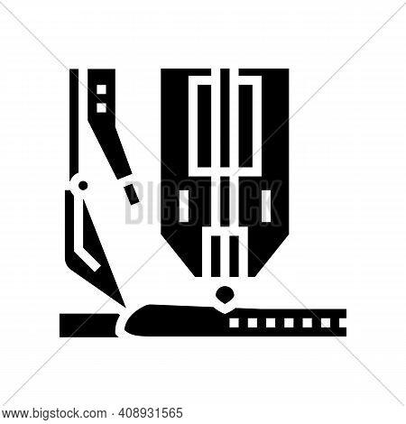 Hyperbaric Welding Glyph Icon Vector. Hyperbaric Welding Sign. Isolated Contour Symbol Black Illustr