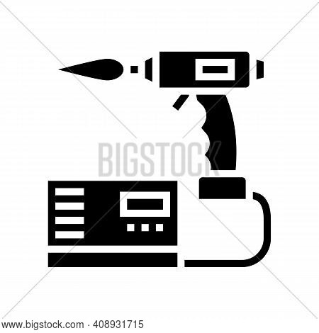 Manual Arc Welding Glyph Icon Vector. Manual Arc Welding Sign. Isolated Contour Symbol Black Illustr