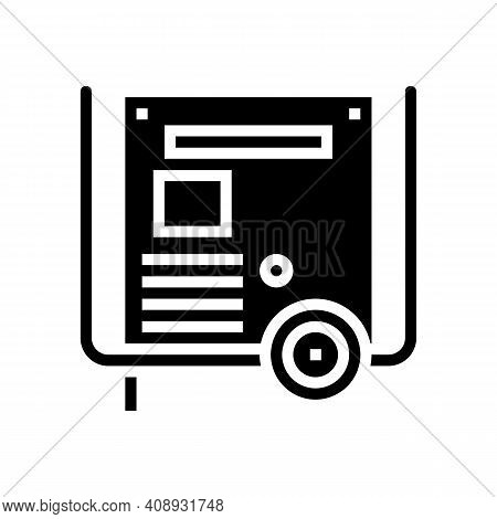 Transformer Electric Equipment Glyph Icon Vector. Transformer Electric Equipment Sign. Isolated Cont