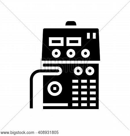 Semiautomatic Device Glyph Icon Vector. Semiautomatic Device Sign. Isolated Contour Symbol Black Ill
