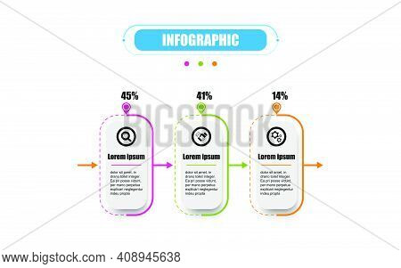 Presentation Business Infographic Template With Three Options. Business Concept With 3 Steps. Timeli