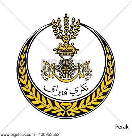 Coat Of Arms Of Perak Is A Malaysian Region. Vector Heraldic Emblem