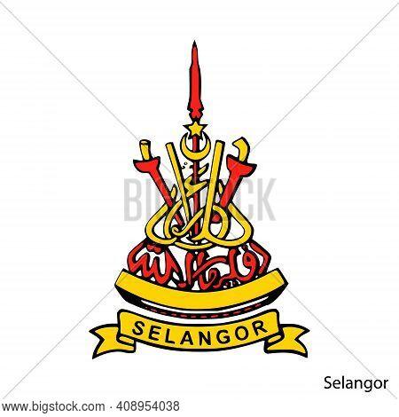 Coat Of Arms Of Selangor Is A Malaysian Region. Vector Heraldic Emblem