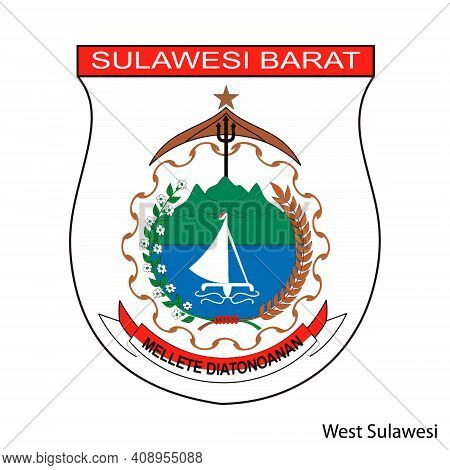 Coat Of Arms Of West Sulawesi Is A Indonesian Region. Vector Heraldic Emblem