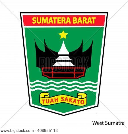 Coat Of Arms Of West Sumatra Is A Indonesian Region. Vector Heraldic Emblem