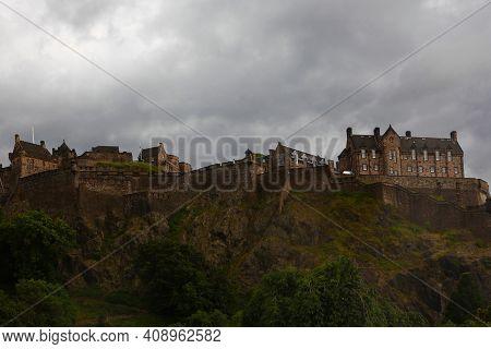 Edinburgh, Scotland/united Kingdom - July 15: View Of Edinburgh Castle In Scotland On Hilltop On [ju