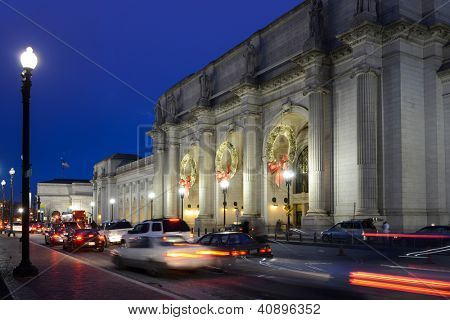 Washington DC, Union Station at night