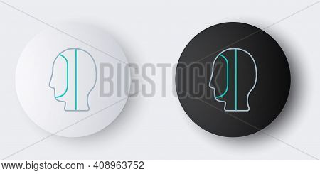 Line Diving Hood Icon Isolated On Grey Background. Spearfishing Hat Winter Swim Hood. Diving Underwa