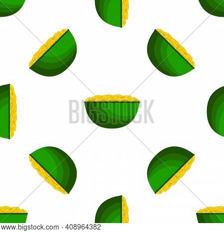 Illustration On Theme Irish Holiday St Patrick Day, Seamless Pot Of Coins. Pattern St Patrick Day Of