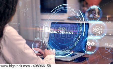Risk Management And Assessment For Business Investment Concept. Business, Technology, Internet And N