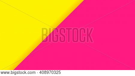 Color Background Yellow Pink For Banner, Two Tone Opposite Colors, Yellow And Pink Paper Background,