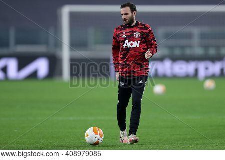 Torino, Italy. 18th February 2021. Juan Mata Of Manchester United Fc  During  Uefa Europa League  Ma