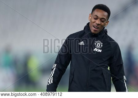 Torino, Italy. 18th February 2021. Anthony Martial Of Manchester United Fc  During  Uefa Europa Leag
