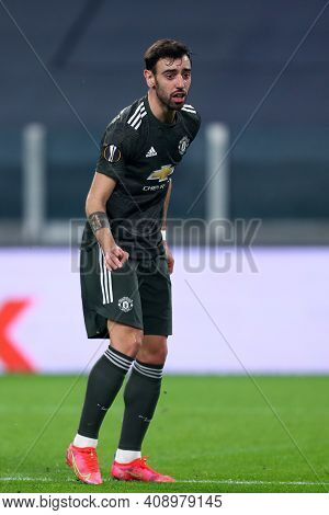 Torino, Italy. 18th February 2021. Bruno Fernandes Of Manchester United Fc  During  Uefa Europa Leag