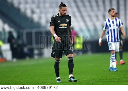 Torino, Italy. 18th February 2021. Alex Telles Of Manchester United Fc  During  Uefa Europa League
