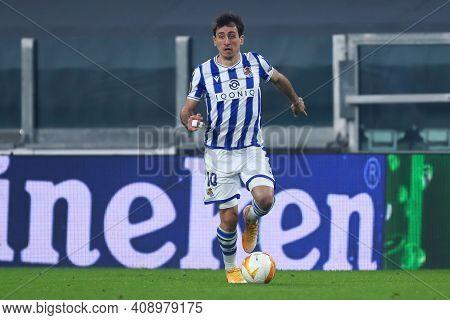 Torino, Italy. 18th February 2021. Mikel Oyarzabal Of Real Sociedad De Futbol  During  Uefa Europa L