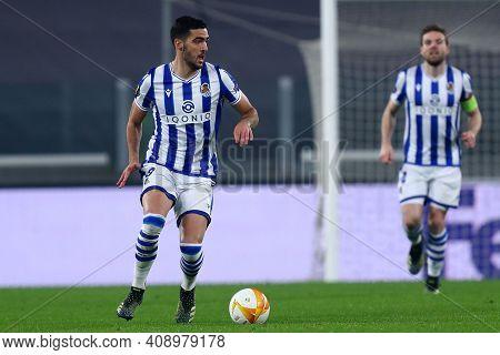 Torino, Italy. 18th February 2021. Mikel Merino Of Real Sociedad De Futbol  During  Uefa Europa Leag