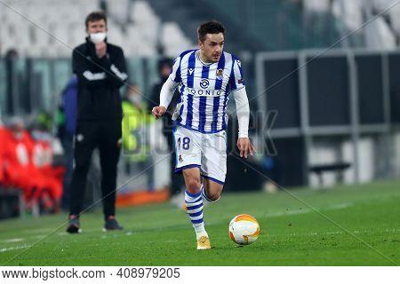 Torino, Italy. 18th February 2021. Andoni Gorosabel Of Real Sociedad De Futbol  During  Uefa Europa