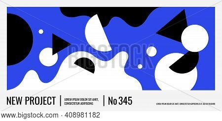 Modern Backgrounds With Abstract Elements And Dynamic Shapes. Compositions Of Colored Spots.